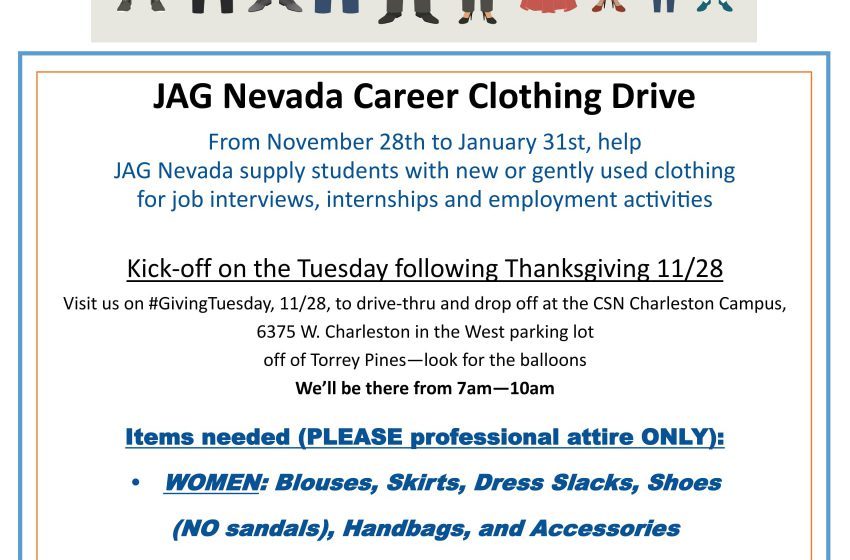 JAG Nevada Career Clothing Drive