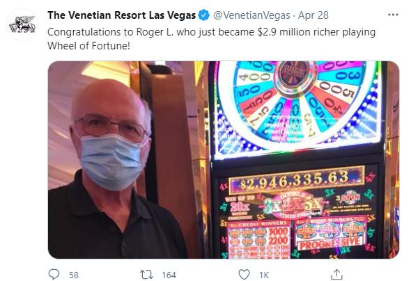 Big Jackpot Wins in April in Las Vegas