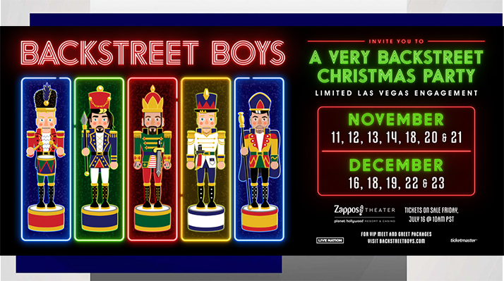 Backstreet Boys To Have First Holiday Season Residency!